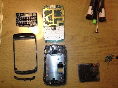 BlackBerry - wymiana matrycy LCD